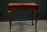Mahogany Queen Ann Style Tea Table With Slides