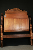 Antique Mohagany Bed Frame With Bolt Rails