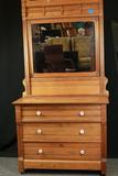 Antique East Lake Walnut Dresser With Mirror