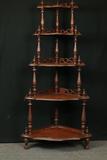 Antique 5 Tier Corner Shelf