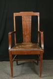 Oak T-Back Arm Chair