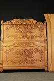 Fancy Grand Rapids Oak Victorian Bed