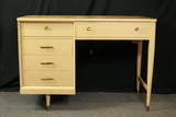 Blonde Oak Sewing Table With Singer Sewing Machine
