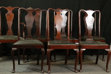 7 Mahogany Chairs & 1 Arm Chair