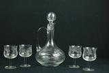Glass Decanter & 4 Glasses