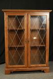 Ethan Allen Maple Cabinet With Glass Doors