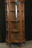 Modern Oak Bow Front China Cabinet