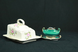 Victorian Cheese Dish & Occupied Japan Lighter Box