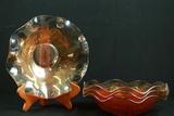 4 Iris & Herringbone Bowls