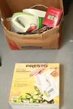 Box Of Misc. Household & Presto Salad Shooter