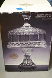 Godinger Shannon Crystal Dome Cake Plate In Box