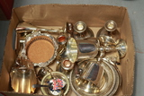Box Of Assorted Silver Plate