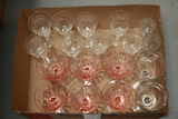Box Of Assorted Stems, 6 Depression Glass