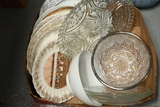 Box Of Assorted Glassware & Plates