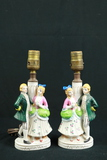 Pair Of Occupied Japan Colonial Style Lamps