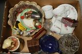 Box Of Misc. Glassware & Household