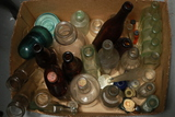 Box Of Old Bottles