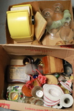 2 Boxes Of Assorted Stemware & Household