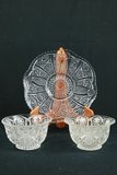 2 Pressed Glass Bowls & Plate