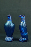 Pair Of Glass Eagle Decanters