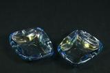2 Glass Ashtrays
