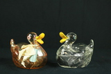 2 Glass Duck Boxes