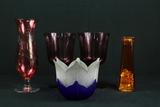 4 Vases & Flower Vase