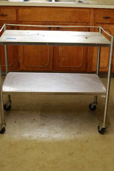 2 Tier Stainless Steel Rolling Table