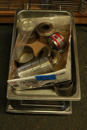 Assorted Stainless Steel Serving Trays