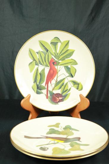 3 Gorham Bird Plates