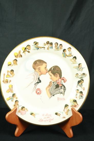 Gorham Norman Rockwell Plate