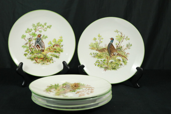 6 Bareuther German Wildlife Plates