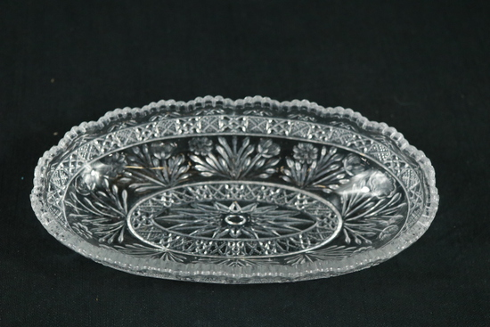 Pressed Glass Butter Dish