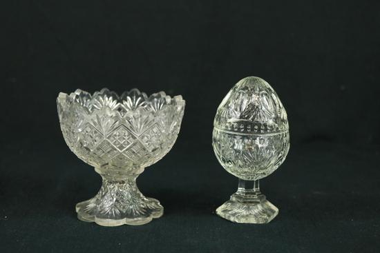 Egg Dish & Footed Bowl