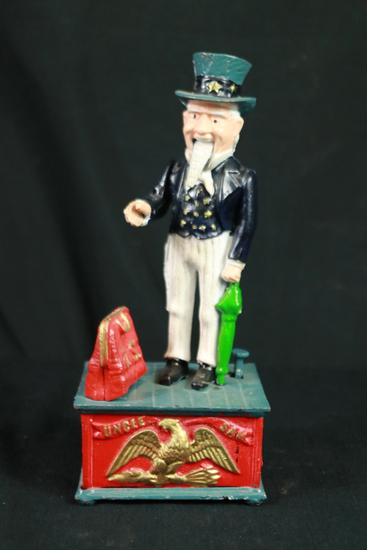 Uncle Sam Cast Iron Bank