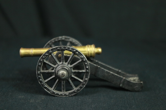 Cast Iron & Brass Model Cannon