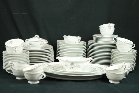 "Set Of Noritake China ""Rosamore"" Pattern"
