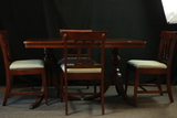 Mahogany Table With 4 Chairs & 1 Leaf