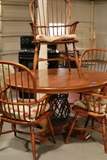 Kitchen Table & 4 Windsor Arm Chairs