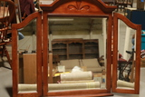 Trifold Mirror With Wood Frame