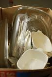 Box Of Corningware Dishes
