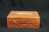 Wooden Trinket Box & Contents
