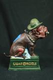 Cast Iron Cigar Dog Bank