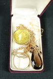 18k Gold Filled Necklace & Pendant With Other Necklace