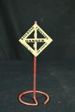 Model Railroad Crossing Sign