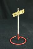 Model Railroad Train Whistle Sign