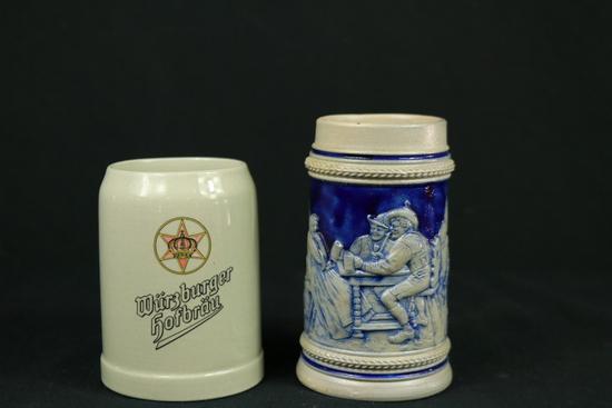 2 German Beer Mugs