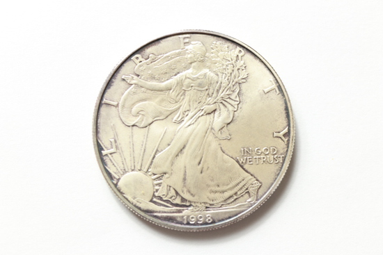 1998 Walking Liberty Silver Dollar