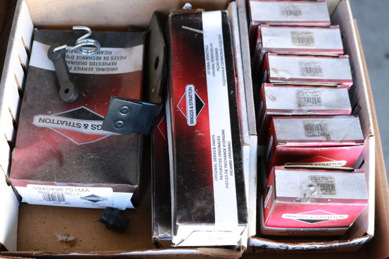 Box Of Briggs & Stratton Filter Pre Cleaner, Brake Pad And Arm