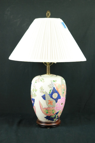 Hand Painted Oriental Lamp